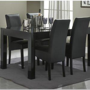 Table De Salle A Manger En Verre Noir