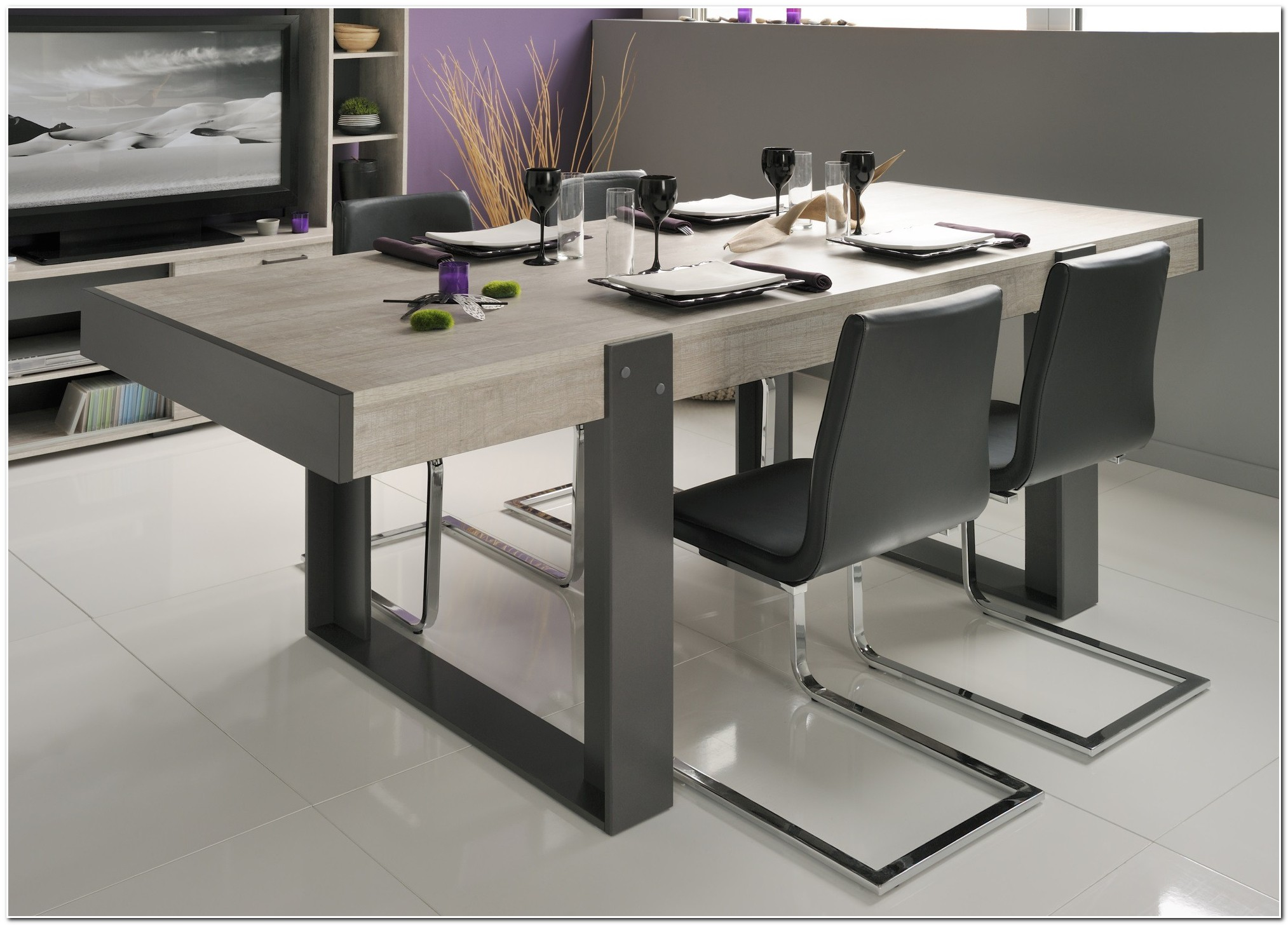 Table De Salle A Manger Extensible Rectangulaire