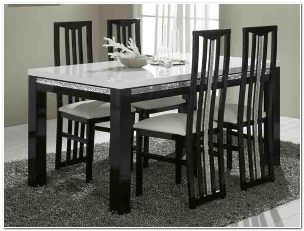Table Salle A Manger En Verre Noir