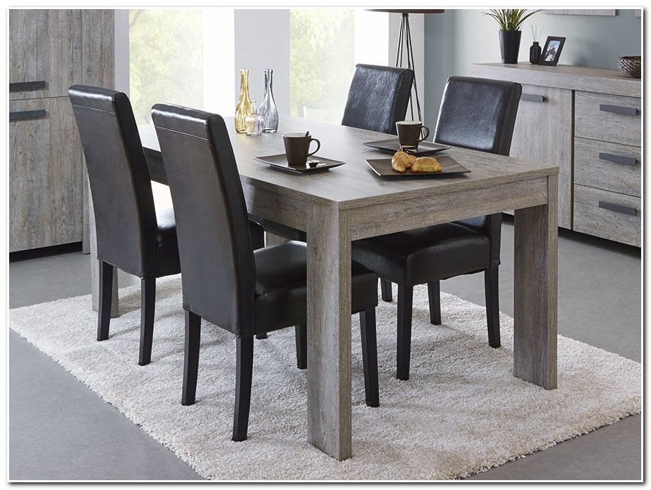 Table Salle A Manger Extensible Grise