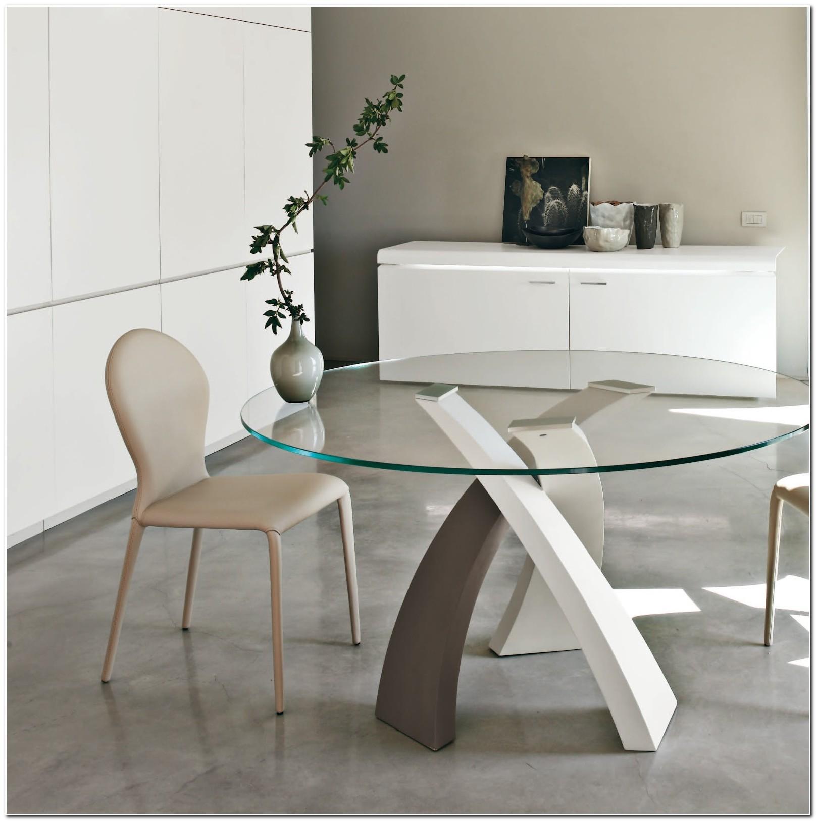 Table Salle A Manger Ronde En Verre Design