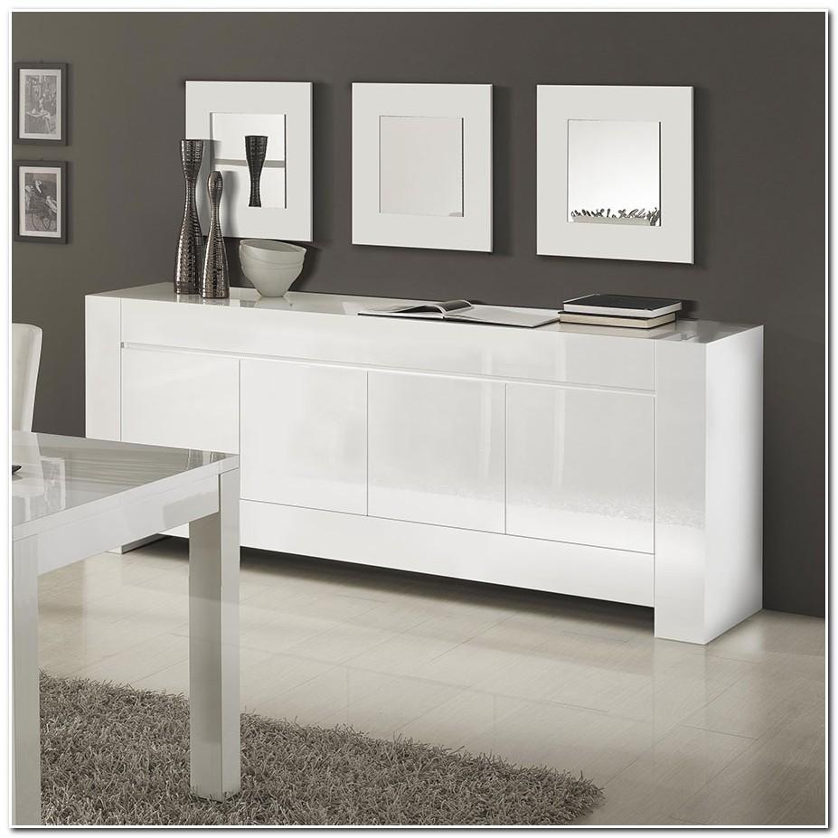 Meuble Bas Laque Blanc Design