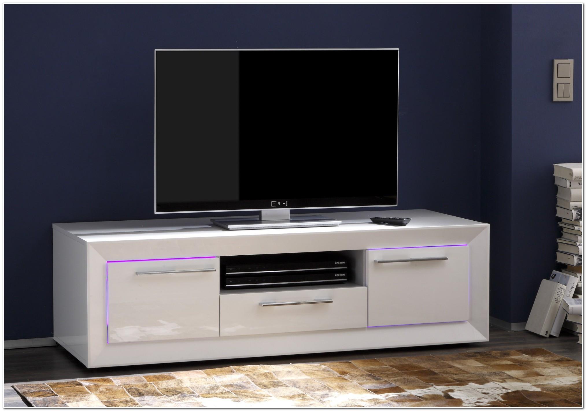 Meuble Bas Laque Blanc Tv
