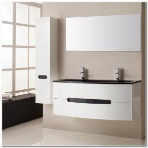 Meuble Salle De Bain Laque Blanc Double Vasque