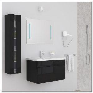 Meuble Salle De Bain Sans Vasque Noir