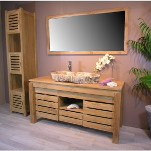 Meuble Salle De Bain Sur Pied Simple Vasque Castorama
