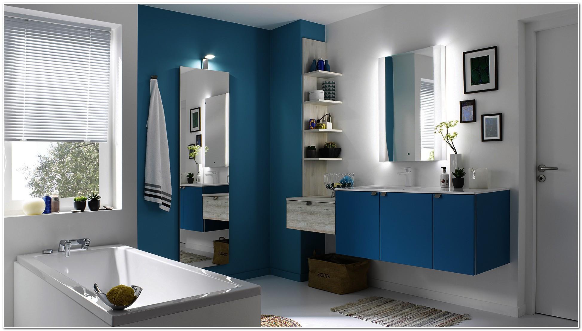Meuble Salle De Bain Bleu Foncé