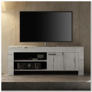 Meuble Tv Chene Blanchi