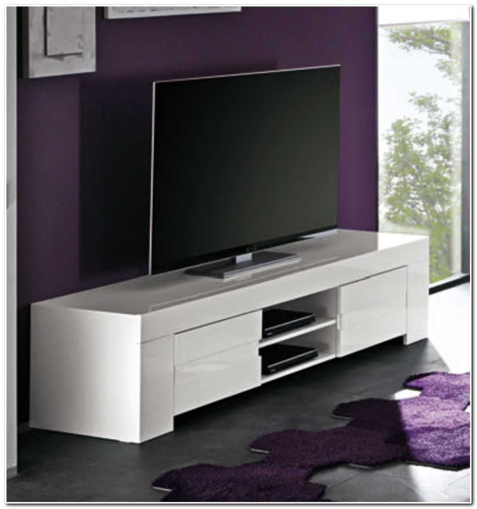 Meuble De Tele Design Blanc