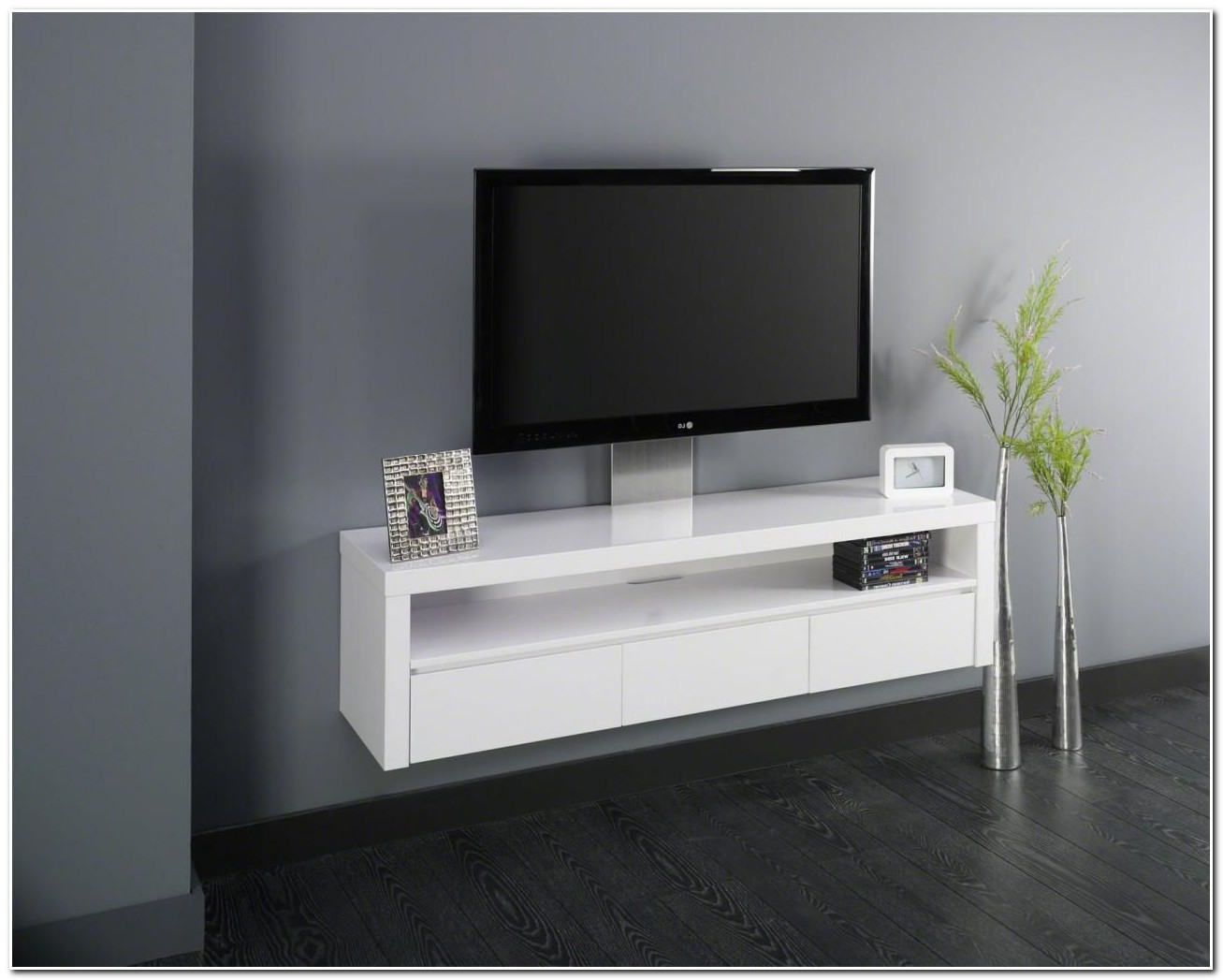 Meuble Hifi Design Blanc