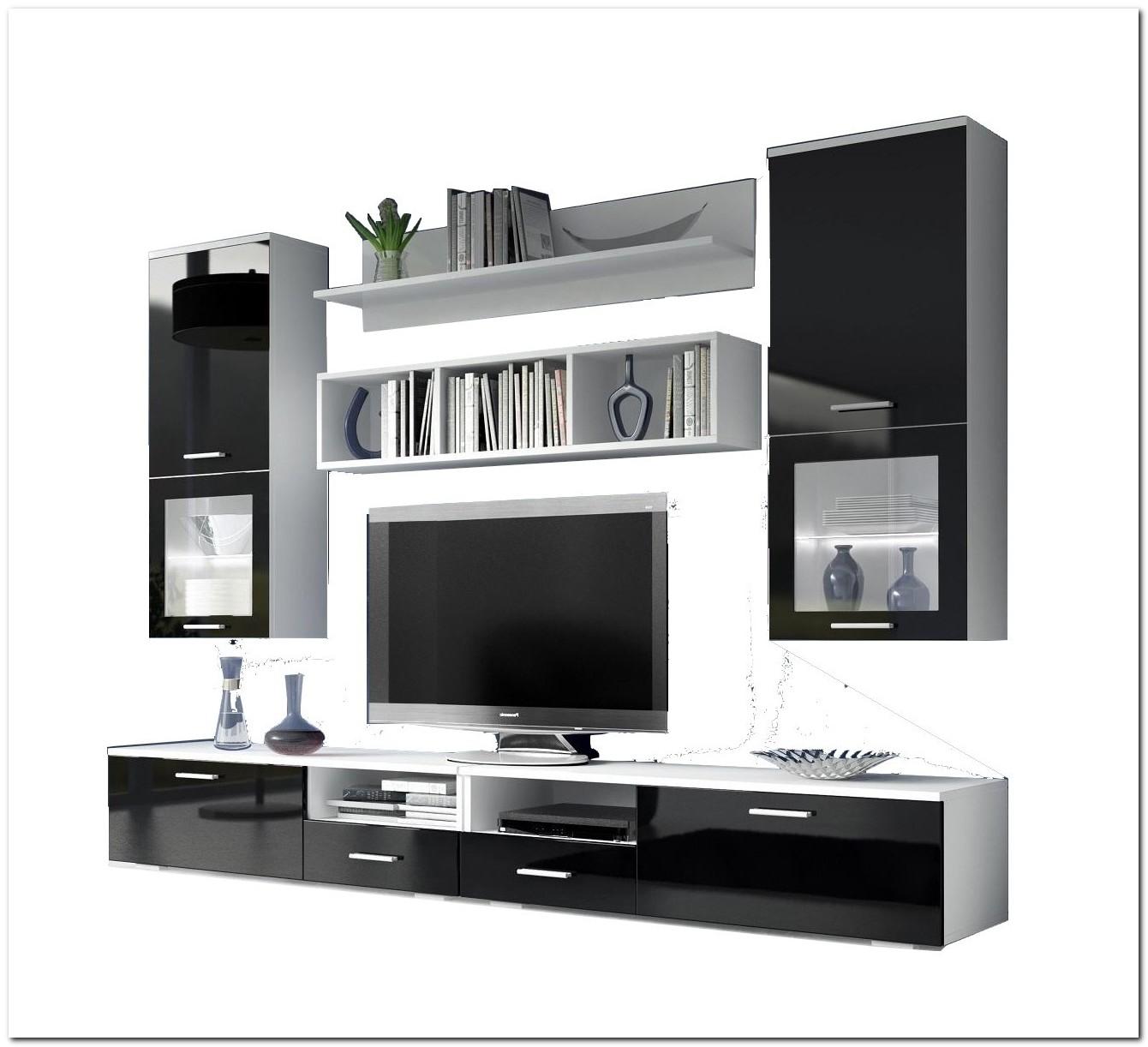 Meuble Tele Mural Blanc