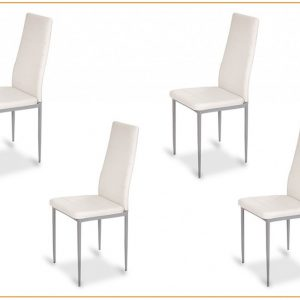 Lot 6 Chaises Blanches Salle A Manger