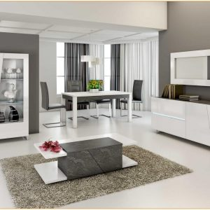 Salle A Manger Taupe Et Blanc