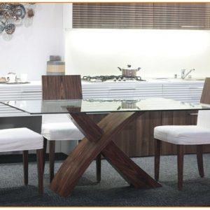 Table De Salle A Manger Moderne En Verre