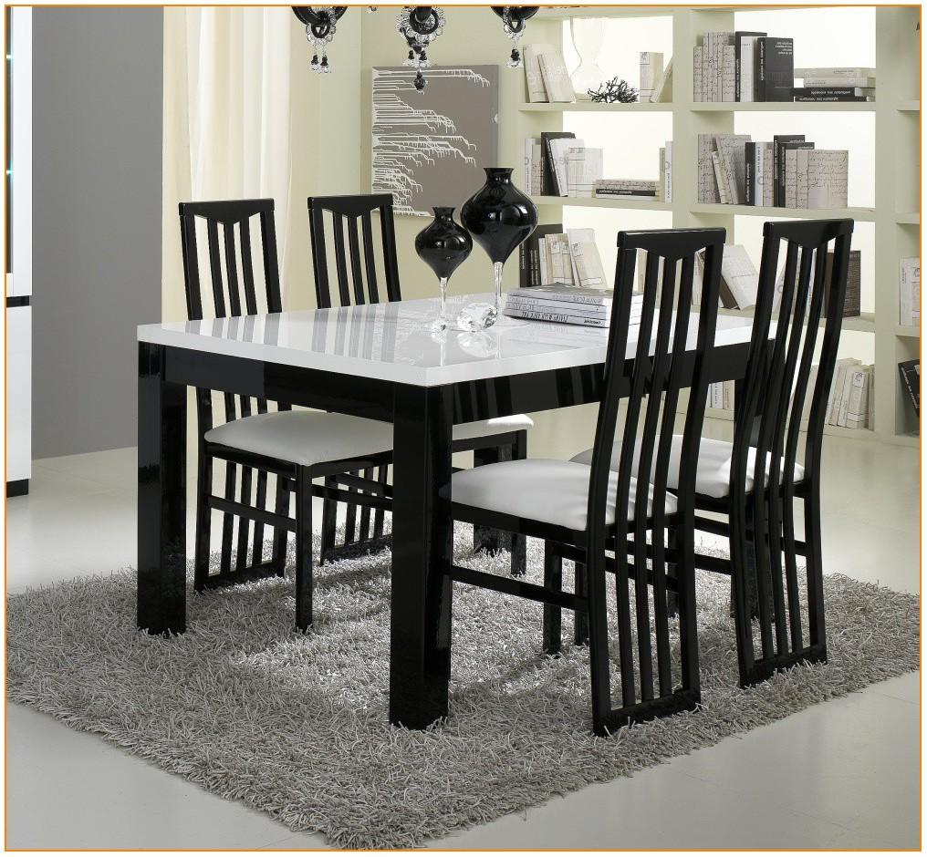 Table Salle A Manger Blanc Et Noir