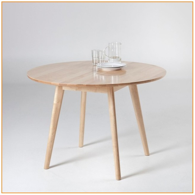 Table Salle A Manger Ronde Extensible La Redoute