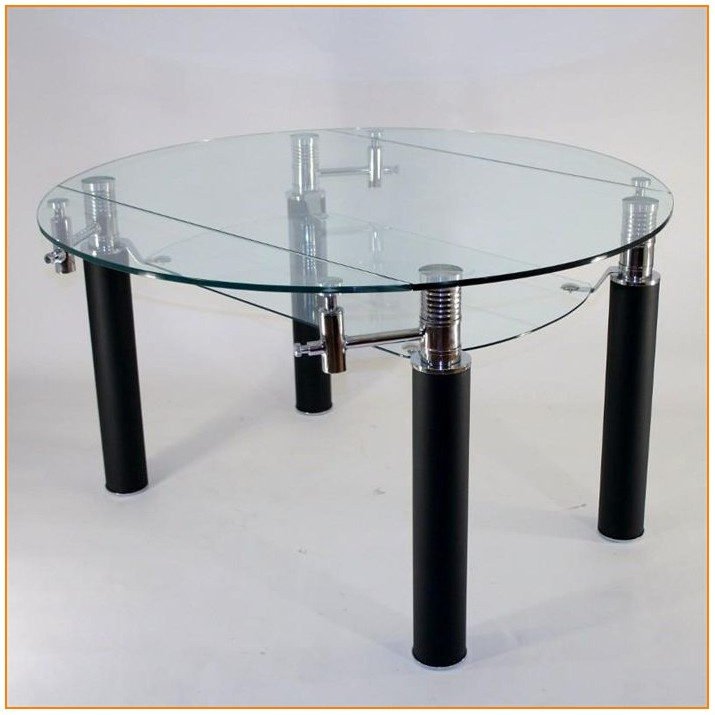 Table Salle A Manger Ronde Extensible Verre