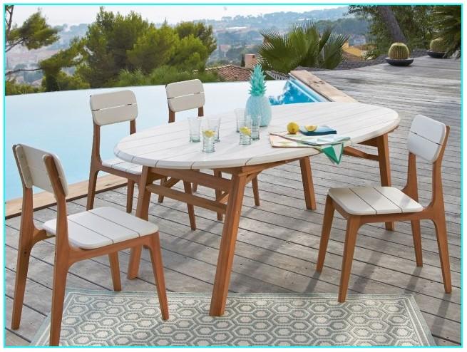 Ensemble Table Et Chaise De Jardin Bois
