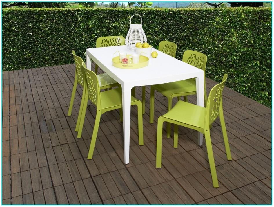 Ensemble Table Et Chaise De Jardin Plastique